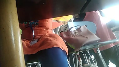 desi upskirt under table  while lunch time captured