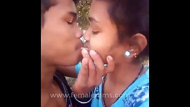 Desi Girl outdoor with bf