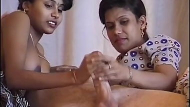 busty desi indian in a real threesome